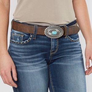 ariat turquoise leather belt